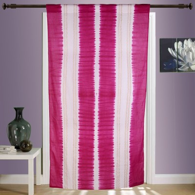 Myyra Cotton White Printed Rod pocket Window & Door Curtain