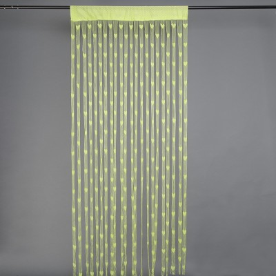 Gift Palace Net Green Embroidered Eyelet Door Curtain