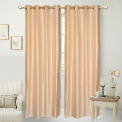 Yellow Weaves Polyester Ivory Plain Curtain Door Curtain
