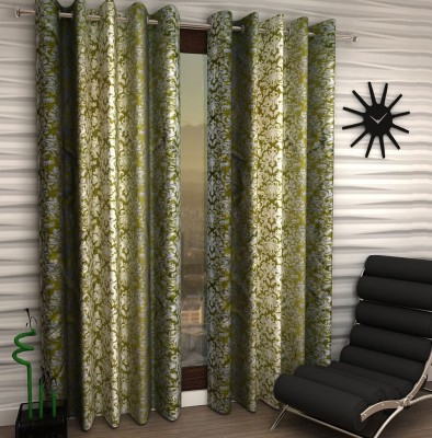 Home Fantasy Polyester Green Abstract Eyelet Window Curtain