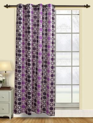 Firangi Polyester Violet Polka Eyelet Door Curtain