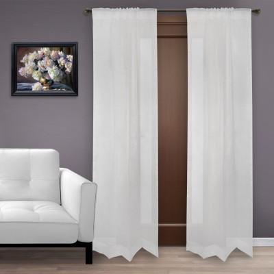Marmitte Silk White Plain Rod pocket Door Curtain