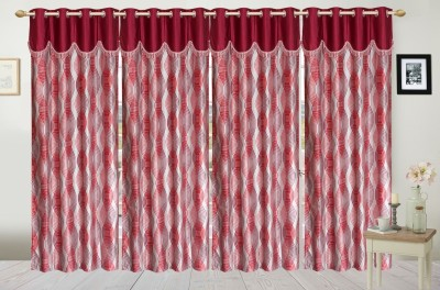 Fresh From Loom Polyester Multicolor Checkered Curtain Window Curtain