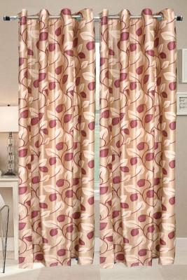 Valtellina Polyester Multicolor Floral Eyelet Long Door Curtain