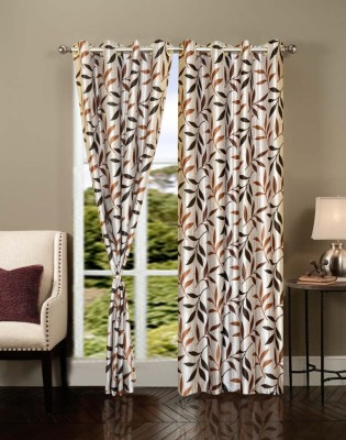 Brand Decor Polyester Multicolor Printed Eyelet Door Curtain