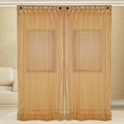 sriam Cotton Golden Solid Curtain Window Curtain