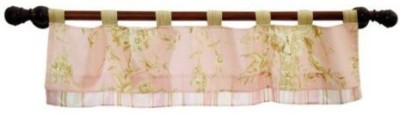 Lambs & Ivy Polyester Pink Floral Curtain Window Curtain