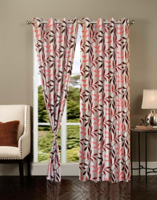 IWS Polyester Multicolor Solid Ring Rod Door Curtain