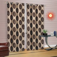 Cortina Polyester Multicolor Floral Eyelet Door Curtain(210 cm in Height, Pack of 2)