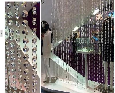 Rasmy Home Decor PVC crystal Self Design Curtain Window & Door Curtain