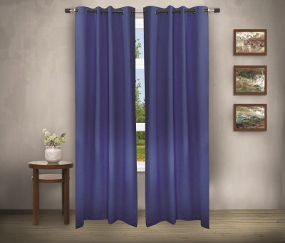 House This Cotton Blue Abstract Eyelet Curtain