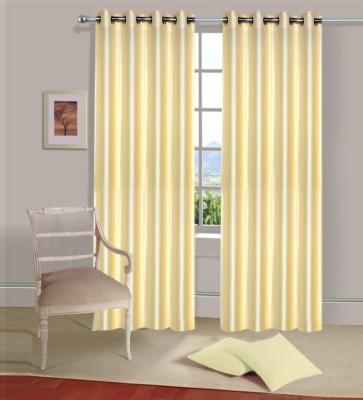 Home Elite Polyester Beige Plain Eyelet Door Curtain