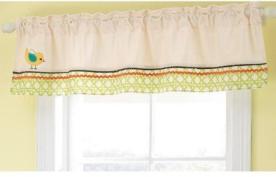 Pem America Cotton, Polyester Multicolor Embroidered Curtain Window Curtain