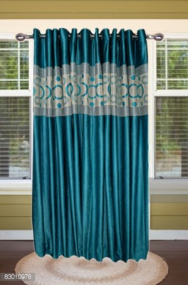 shoppeholics Polyester Sky Blue Abstract Curtain Door Curtain