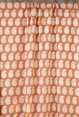 Ocean Homestore Cotton Brown Paisley Curtain Door Curtain