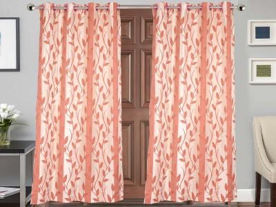 Vivace Homes Jacquard Multicolor Geometric Eyelet Door Curtain