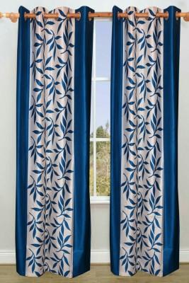 Z Decor Polyester Aqua Printed Eyelet Door Curtain