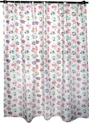 Skap Polyester White Animal Eyelet Shower Curtain