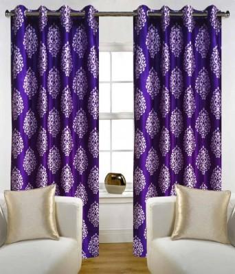 Jai Ganga Polyester Multi-Colour Floral Curtain Door Curtain