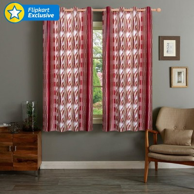IWS Polyester Multicolor Plain Eyelet Window Curtain