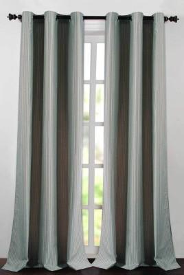 Deco Essential Polyester Aporange Plain Eyelet Door Curtain