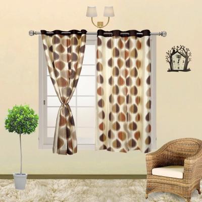 I Catch Cotton BeigeAndWhite_17_1 Striped Eyelet Window Curtain