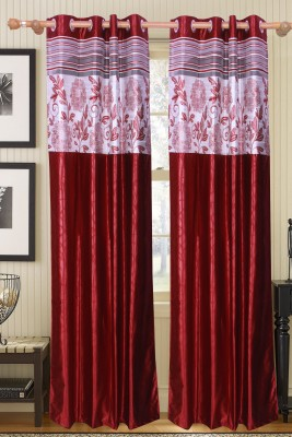 Furnishing Kingdom Polycotton Multicolor Floral Eyelet Door Curtain