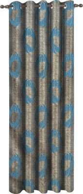 Dreamscape Polyester Blue Animal Eyelet Door Curtain
