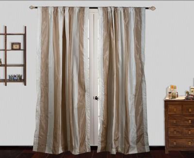 Marmitte Polyester Multicolor Striped Rod pocket Door Curtain