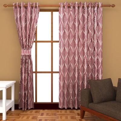 BSB Trendz Polyester Multicolor Printed Eyelet Window & Door Curtain