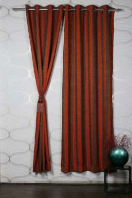 Homelife Polyester Multicolour Abstract Eyelet Window Curtain