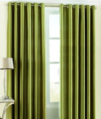 Pag Polyester Plain Green Plain Eyelet Door Curtain