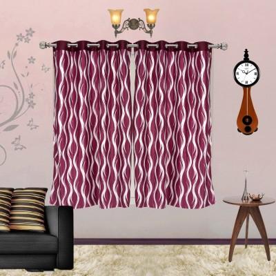 I Catch Blends Multicolor Striped Curtain Window Curtain