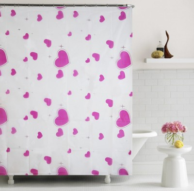 Home Candy PVC Multicolor Printed Curtain Shower Curtain