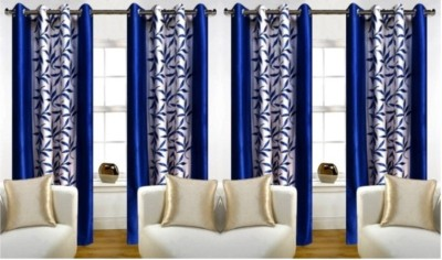 Jojo Designs Polyester Blue Floral Eyelet Long Door Curtain