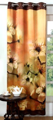 Lushomes Polyester Multicolor Printed Eyelet Door Curtain