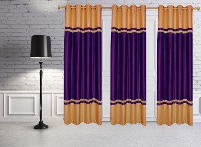 Batham Sales Blends Purple Plain Eyelet Door Curtain