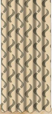 Drapez Polyester Brown & Green Printed Eyelet Door Curtain