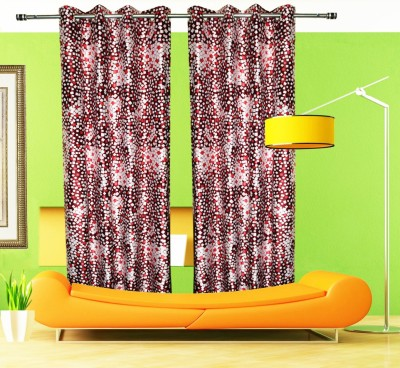 Home Fashion Gallery Polyester Multicolor Checkered Eyelet Door Curtain