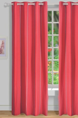 House This Cotton Red Floral Eyelet Door Curtain