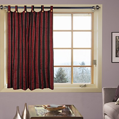 Kings Polycotton Red Solid Curtain Door Curtain