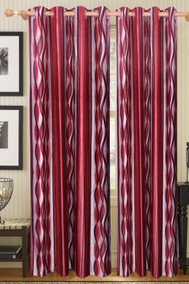 Surhome Polyester Multicolor Floral Eyelet Window & Door Curtain