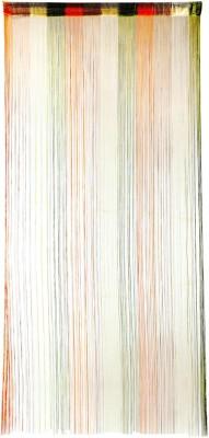 Ramcha Polyester Green, Orange Self Design Rod pocket Door Curtain