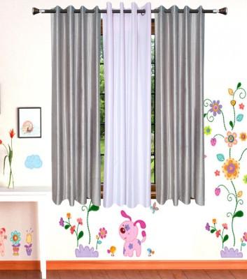 Shop Since Polyester Multicolor Plain Eyelet Window Curtain