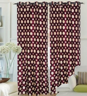 Hargunz Polyester Lavender Printed Eyelet Door Curtain