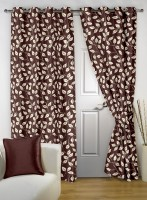 Story@Home Polyester Multicolor Printed Eyelet Door Curtain(215 cm in Height, Pack of 2)