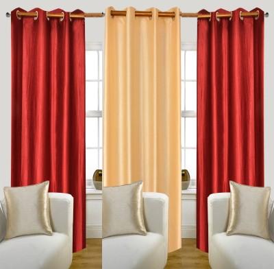 Glamora Interiors Polyester Multicolor Plain Eyelet Window & Door Curtain
