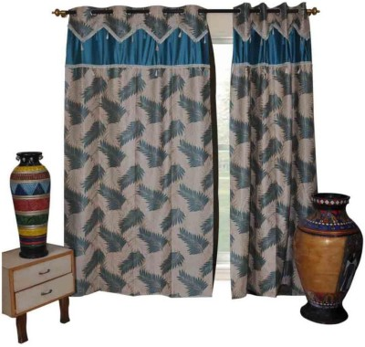 The Fancy Mart Polyester Multicolor Printed Eyelet Door Curtain