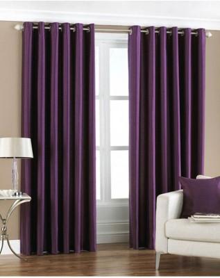 Handy Texty Polyester Multicolor Plain Eyelet Window Curtain