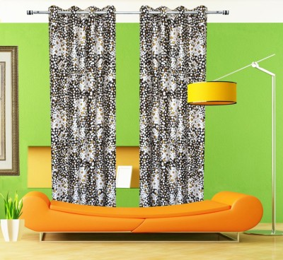 Home Fashion Gallery Polyester Multicolor Checkered Eyelet Window Curtain